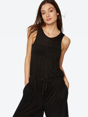 Sleeveless Jumpsuit in a Palazzo Style