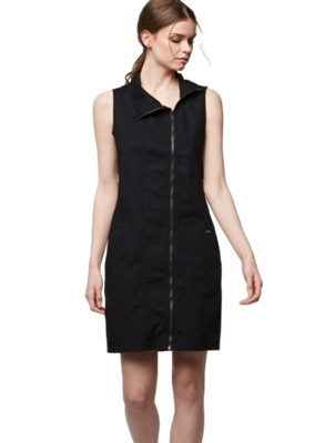 Sleeveless Dress with Asymmetrical Zip