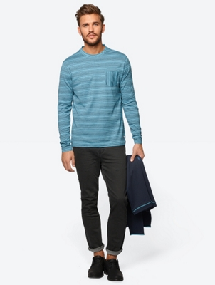 Urban Longsleeve with Marl Stripes