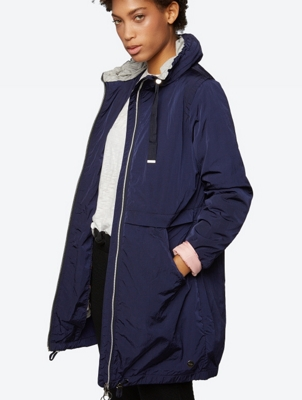 2-in-1 Parka im unifarbenem Look