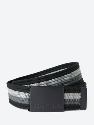 Striped Belt with Metal Buckle