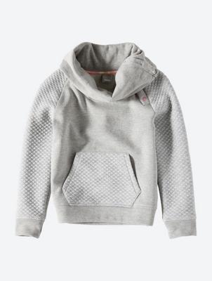 Sweatshirt with Shawl Collar