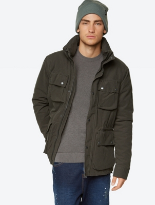 Padded Jacket with Hood in Collar