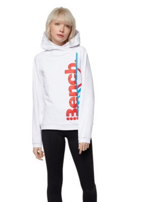 Hoodie with Colour Contrasting Bench Print on the Front