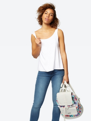 Loose Fit Vest Georgia with Layered Back