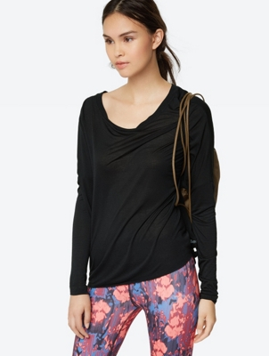Long-Sleeve Shirt with Overcut Shoulders