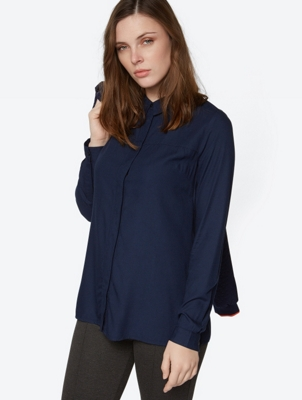 Long Blouse with a Loose Cut