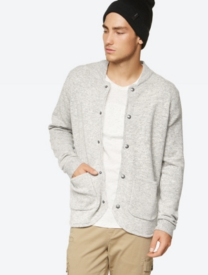 Melange Cardigan Am B in Pure Wool