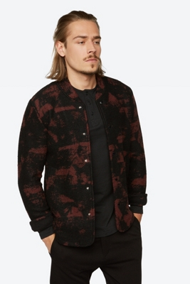 Patterned Jacket Am with Snap Button Panel