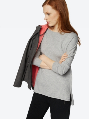Fine Knit Jumper with Overcut Shoulder Section