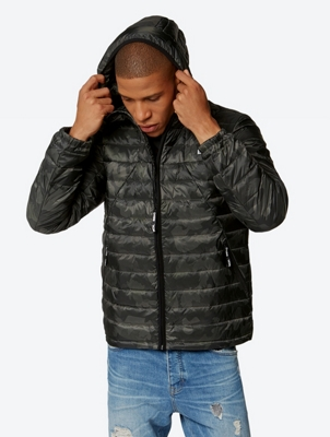 Down Jacket with Camouflage Pattern
