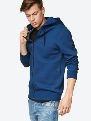 AOP EMBRO ZIP JACKET