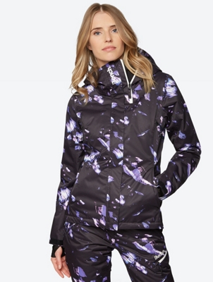 Patterned Ski Jacket with Water Repellent Properties