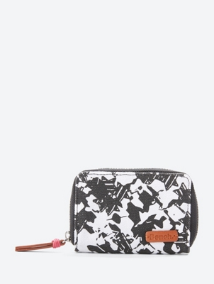 Small CanvasZip Around Purse with All-Over Pattern