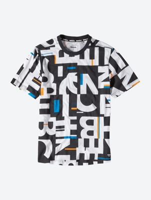 T-Shirt with All-Over Logo Print