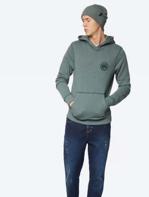Sporty Hoodie Arabesque with Flocking