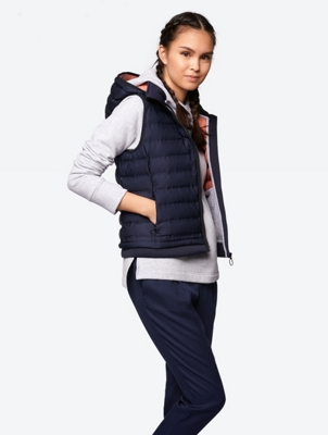 Quilted Gilet with Removable Hood