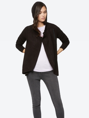 Cardigan with Asymmetric Cut
