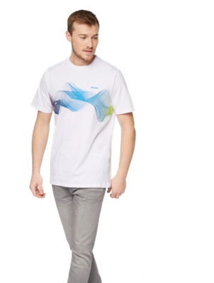 T-Shirt with Colourful Print on the Front