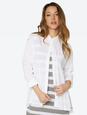 Oversized Blouse Waft in a sheer fabric