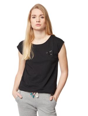 T-Shirt mit geflochtenen Details