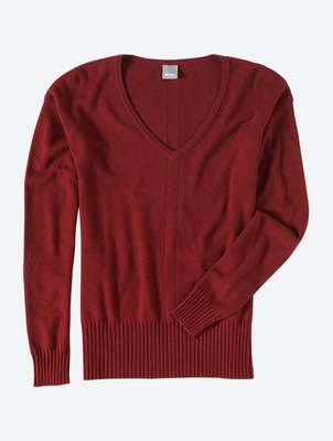 Plain Jumper with V-Neck