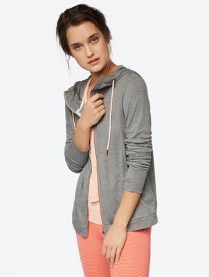 Casual Shirt Jacket with Thumb Loops