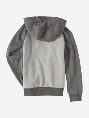 Two-Tone Zip-Through Hoodie