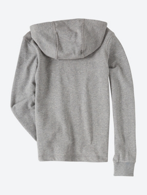 Pull-Over Logo Hoodie with Contrast Lining