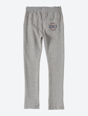 Grey Marl Sweatpants with Contrasting Coloured Inside