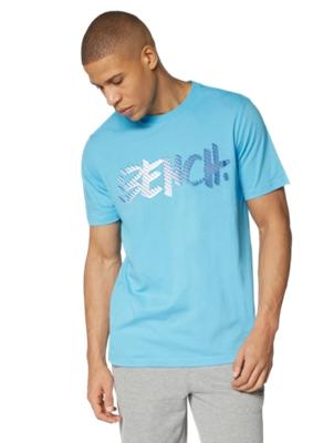 T-Shirt mit buntem Bench-Schriftzug