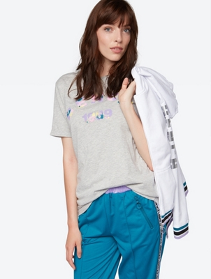 Soft T-Shirt with Multi-Coloured Logo Print