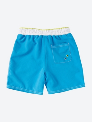 Plain Swim Shorts with Bench Print