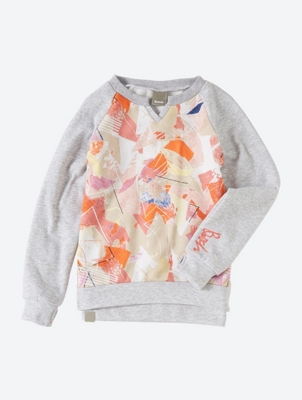 Comfortably Cut Sweatshirt with Artwork Print