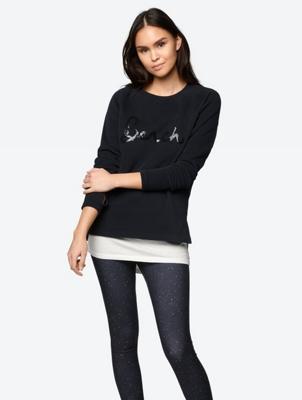 Sweatshirt mit Pailletten-Stitching