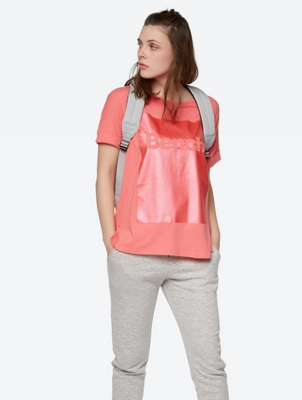 Relaxed Fit T-Shirt with Metallic Print