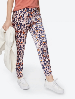 Shiny Trousers with Graphic Pattern