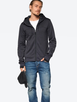 Marl Hooded Sweat Jacket with Darts