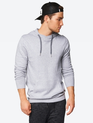 Melange Jumper with Hood