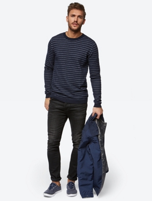 Striped Fine Knit Jumper