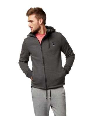 Jacket with Textured Outer Material