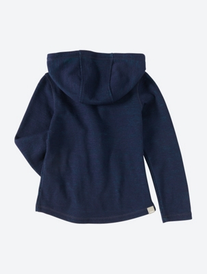 Textured Hooded Jacket with Zip