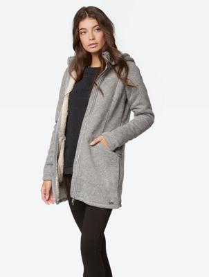 BONDED LONG TEDDY JACKET