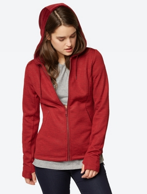 Sweatjacke in Flammgarn-Optik