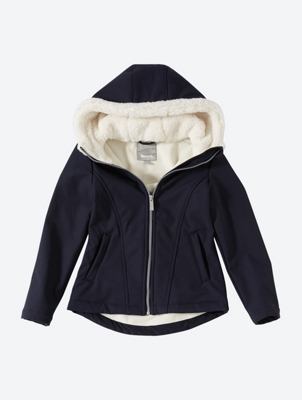 Jacket with Lined Hood
