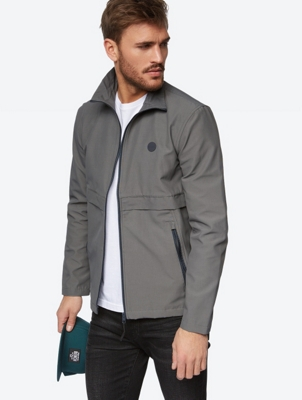 Water Repellent Jacket with Decorative Trim on the Front