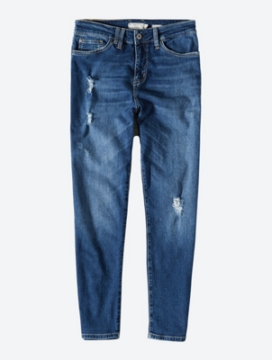 Five-Pocket Jeans with Destroyed Details