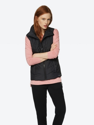 Lightweight Quilted Gillet with Standing Collar