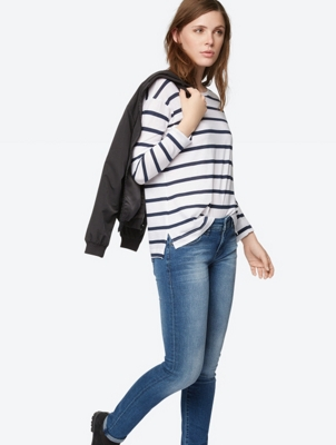 Long-Sleeve Brio in Stripe Design