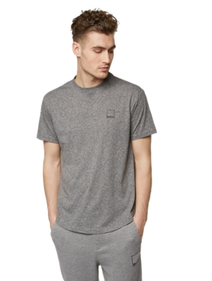 T-Shirt in Melange Look